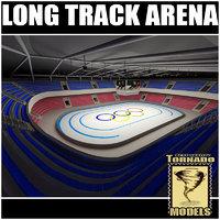 long track arena 3d model