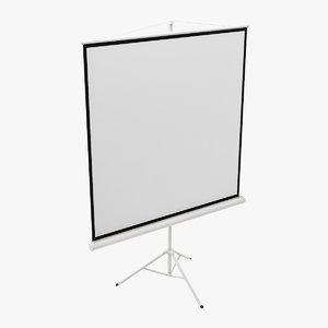 3d projector screen