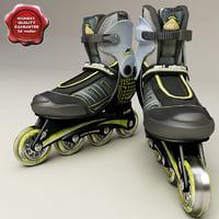 3d model roller blades