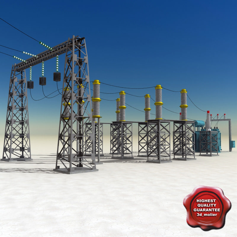 substation modelled 3ds