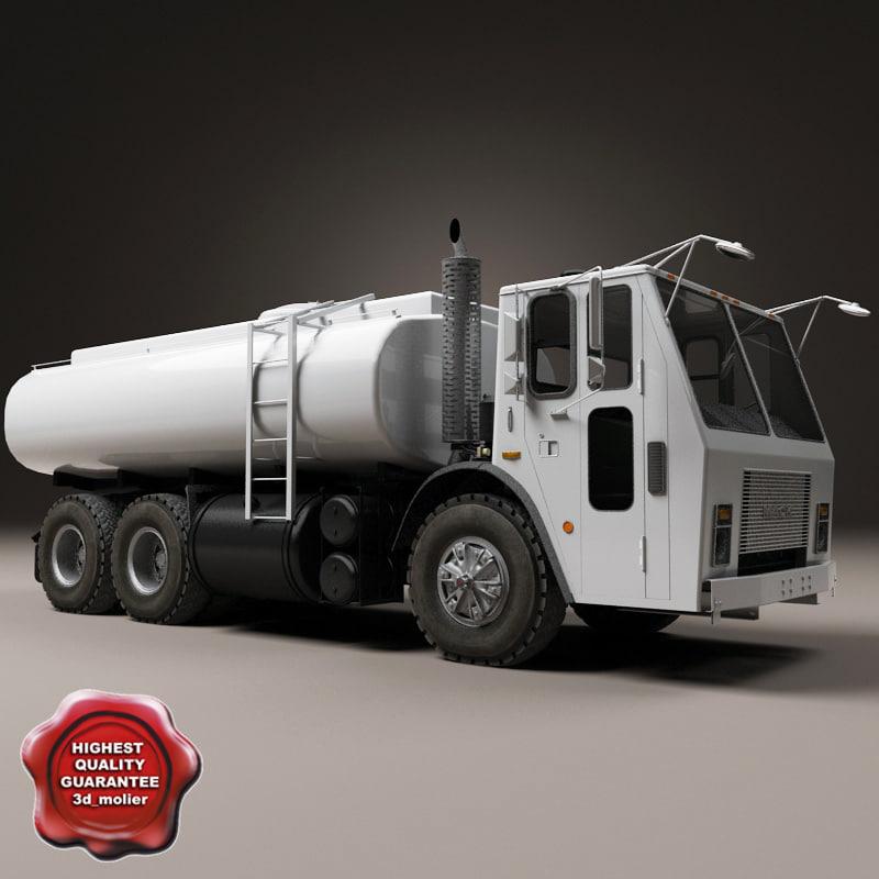 3d tank truck mack