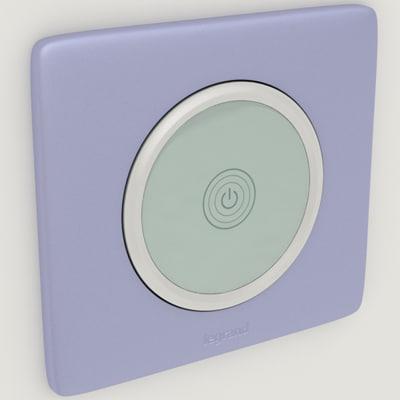 3d model legrand switch