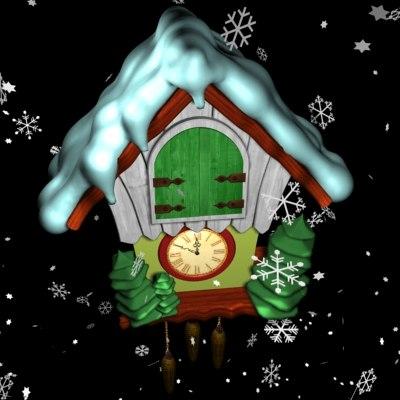 holiday clock 3d max
