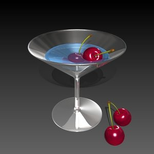 3ds max cocktail glass