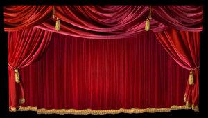 curtain red velvet ma