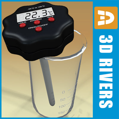 3d model digital thermometer
