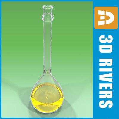 flask chemistry lab 3d model
