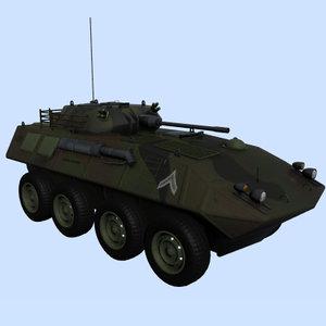 3d lav-25 vehicle armored model