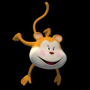 monkey female character 3d model