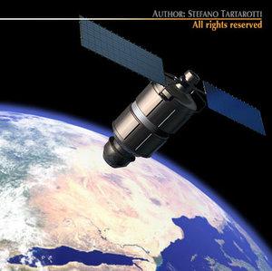 iridium 33 satellite 3d model
