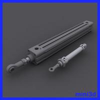 3d model pneumatic pistons