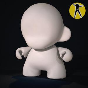 muuny vinyl toy 3d model