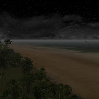 night light beach 3d model