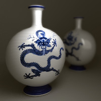 chinesse dragon vase 3d max
