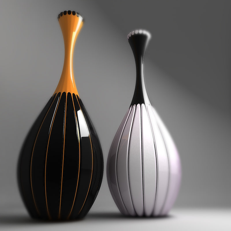 decorative vases 3d max