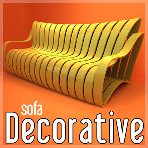 decorative sofa design 3d 3ds