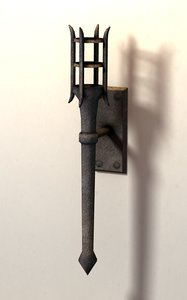 medieval torch 3ds