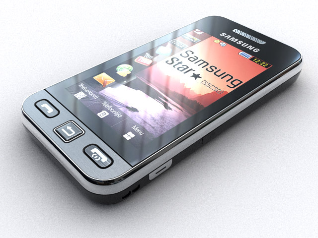3d model samsung s 5230 star
