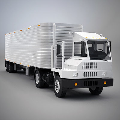 3ds max yard truck trailer