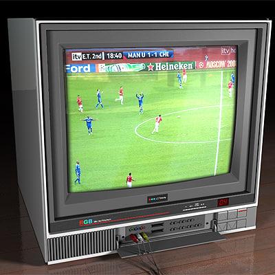 3d model of 90s tv