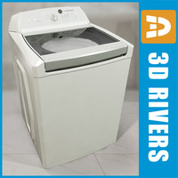 High tech white  top load washer by 3DRivers