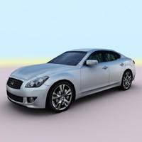 2011 infiniti m 3d model