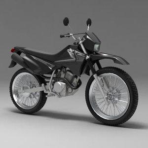 3d motorcycle yamaha xtz 125
