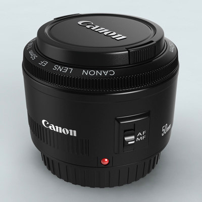 3d canon 50mm f1 8
