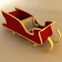 3ds max santa s sleigh
