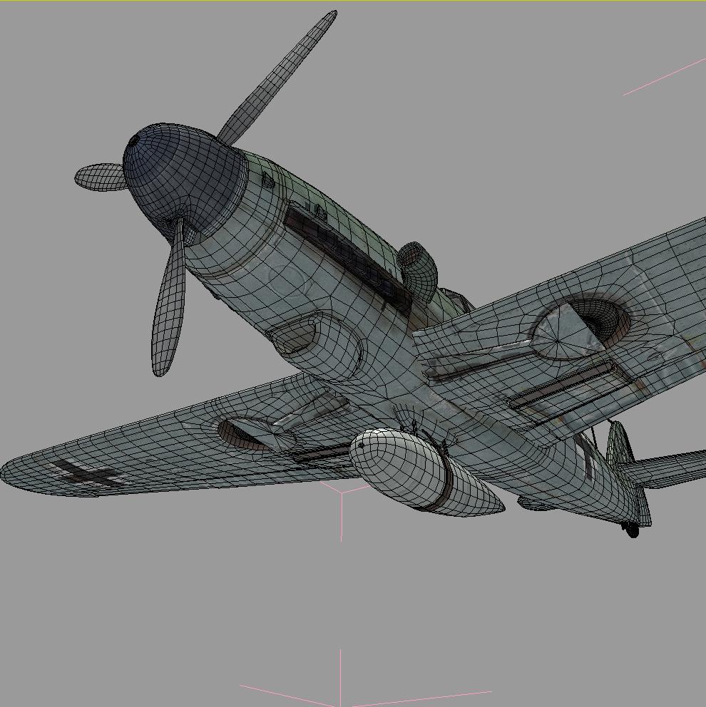 3d model messerschmitt