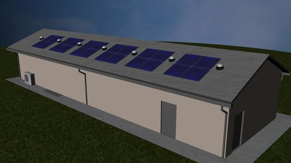 3d model eco building office c