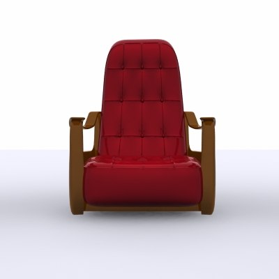 3d armchair chair latex model