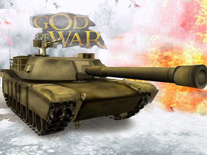 army m1a1 abrams battle tank 3d model
