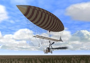 airship balloon dirigible 3d model