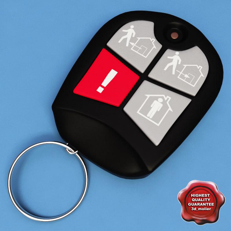 realistic alarm remote 3d model