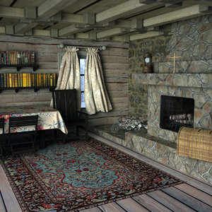 cabin interior 3d model