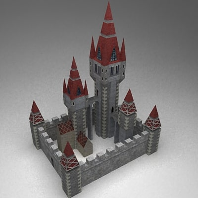 3d model fantasy medieval castle