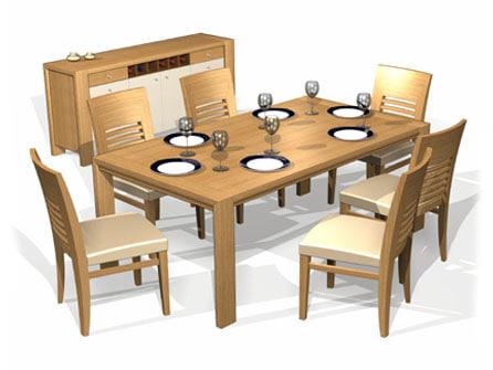 3d model of rift dining set