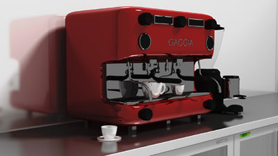 3d italian coffee machine grinder