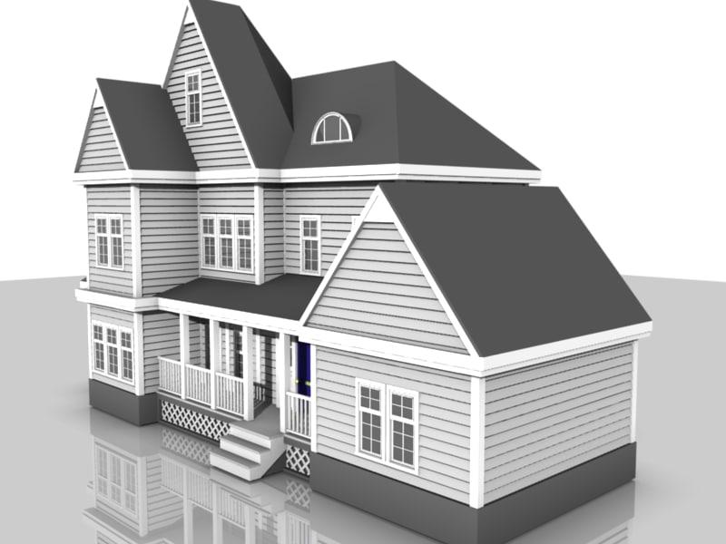 suburban house dxf
