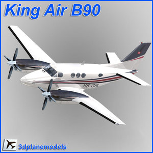 beechcraft c90 king air 3d model