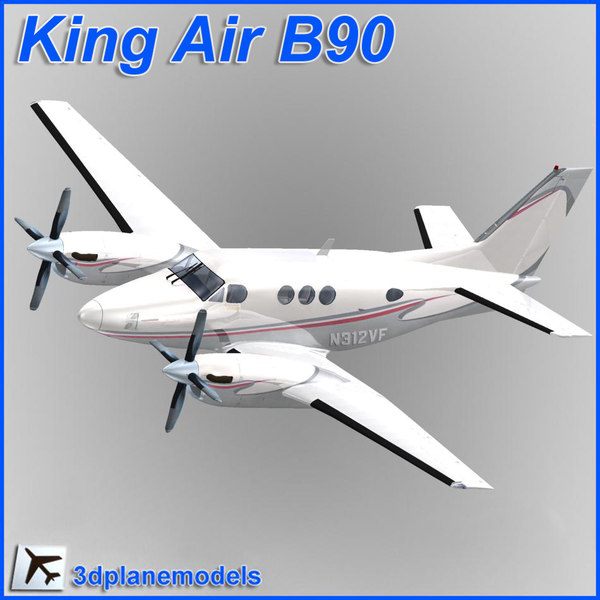 beechcraft c90 king air 3ds
