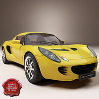 lightwave realistic racing car elise