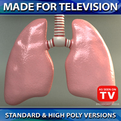 lungs 3d max