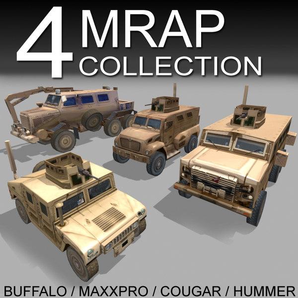 cougar mrap 3d max