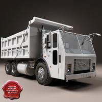 mack dump truck 3d max