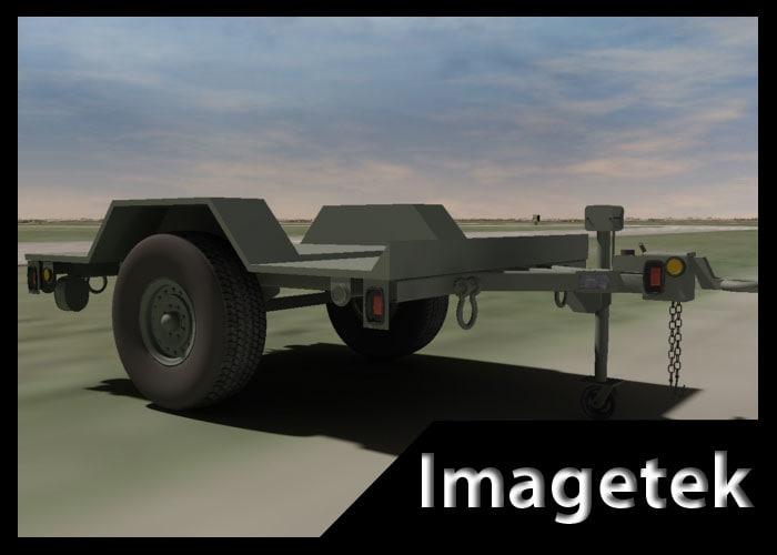 military hmmwv towable trailer 3d model