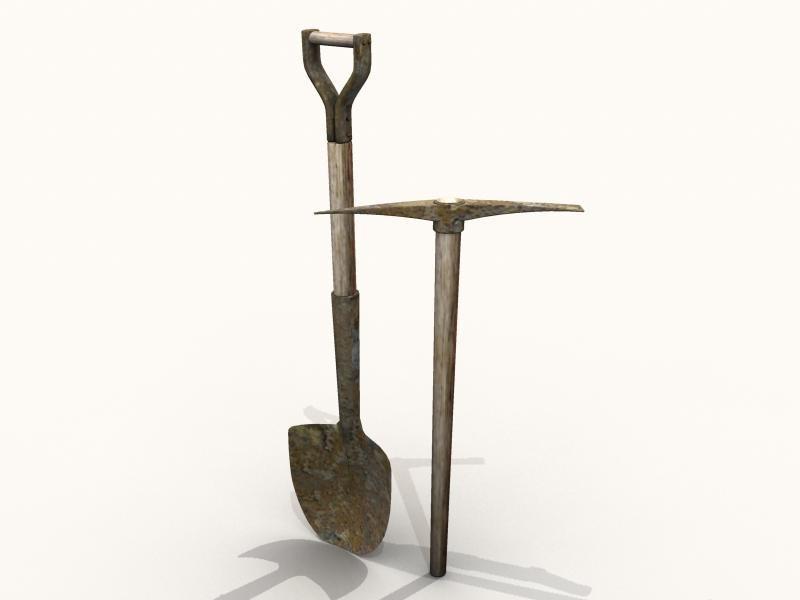 maya shovel pick axe