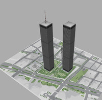3d model world trade center