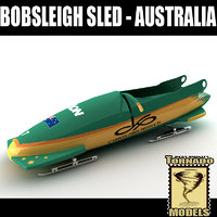 3d model of bobsleigh sled - australia